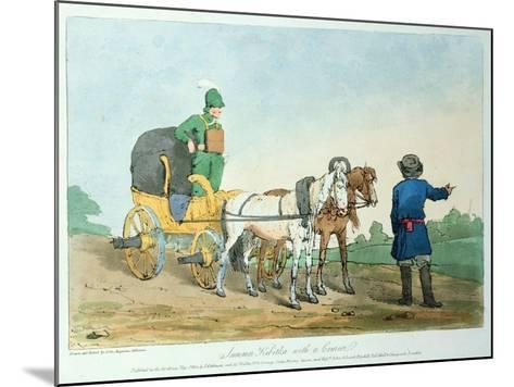 Summer Kibitka with a Courier, 1803-John Augustus Atkinson-Mounted Giclee Print