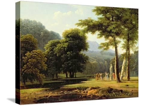 Landscape, 1804-Jean Victor Bertin-Stretched Canvas Print