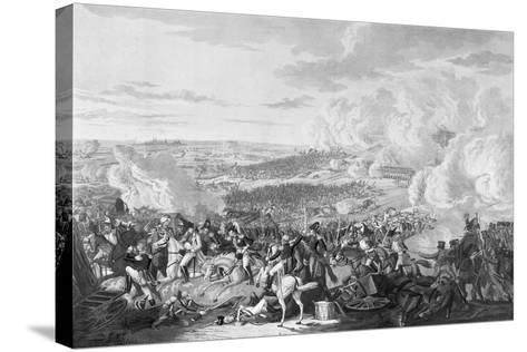 Napoleon's Flight at the Battle of Waterloo, 18 June 1815, 1816-Johann Lorenz Rugendas-Stretched Canvas Print