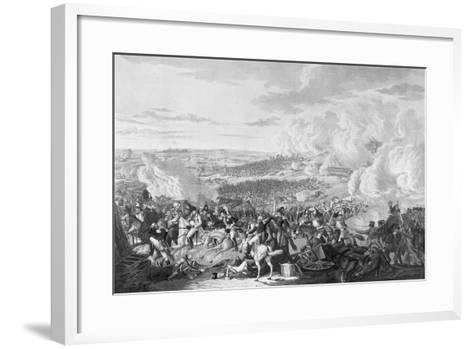 Napoleon's Flight at the Battle of Waterloo, 18 June 1815, 1816-Johann Lorenz Rugendas-Framed Art Print