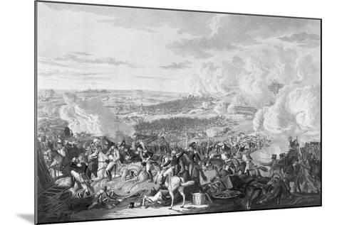 Napoleon's Flight at the Battle of Waterloo, 18 June 1815, 1816-Johann Lorenz Rugendas-Mounted Giclee Print