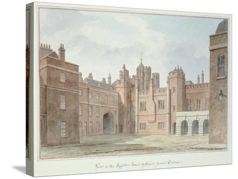 View in the Kitchen Court of St. James's Palace-John Buckler-Stretched Canvas Print