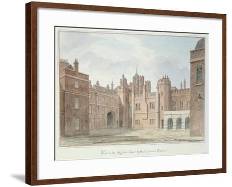 View in the Kitchen Court of St. James's Palace-John Buckler-Framed Art Print
