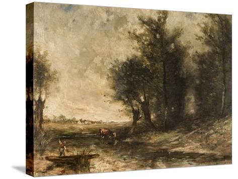 Landscape-Jean-Baptiste-Camille Corot-Stretched Canvas Print
