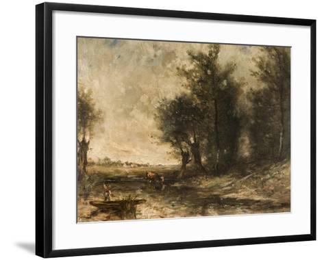 Landscape-Jean-Baptiste-Camille Corot-Framed Art Print
