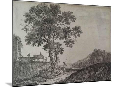 Italian Landscape, Etched by C. G-Jean-Baptiste Antoine Tierce-Mounted Giclee Print