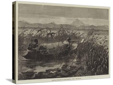 Shooting Water-Fowl on Lake Mirambala, Africa-Johann Nepomuk Schonberg-Stretched Canvas Print