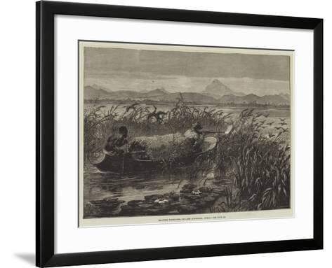 Shooting Water-Fowl on Lake Mirambala, Africa-Johann Nepomuk Schonberg-Framed Art Print