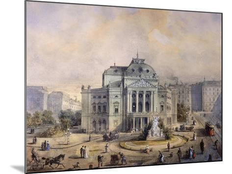 Volks Theater, Vienna-Johann Wilhelm Frey-Mounted Giclee Print