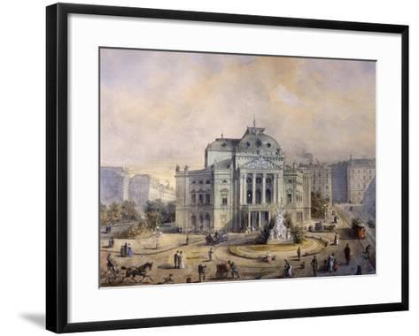 Volks Theater, Vienna-Johann Wilhelm Frey-Framed Art Print