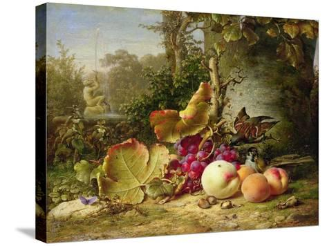 Fruit and Sparrows, 1863-Johann Wilhelm Preyer-Stretched Canvas Print