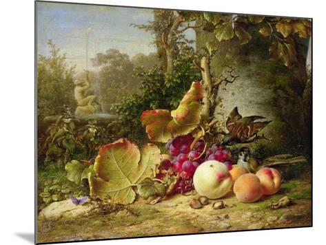 Fruit and Sparrows, 1863-Johann Wilhelm Preyer-Mounted Giclee Print