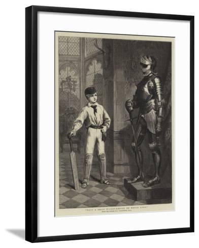 What a Jolly Wicket-Keeper He Would Make!-John Ballantyne-Framed Art Print