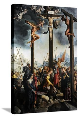 Triptych of the Crucifixion, 1535, by Jan Van Scorel (1495-1562). Netherlands-Jan van Scorel-Stretched Canvas Print