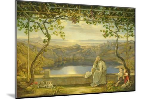 A Monk on a Terrace at the Nemi Lake, 1818-Joachim Faber-Mounted Giclee Print
