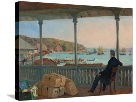 Valparaiso, 1841-Johann Moritz Rugendas-Stretched Canvas Print