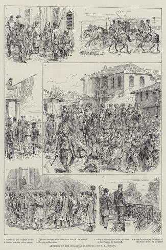 Sketches of the Bulgarian Elections-Johann Nepomuk Schonberg-Stretched Canvas Print