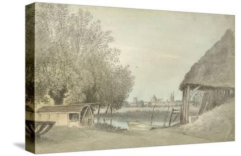 Ferry Hinksey, Near Oxford, 15 June 1789 (Watercolour over Graphite, on Paper)-John Baptist Malchair-Stretched Canvas Print