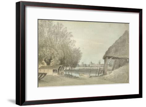 Ferry Hinksey, Near Oxford, 15 June 1789 (Watercolour over Graphite, on Paper)-John Baptist Malchair-Framed Art Print