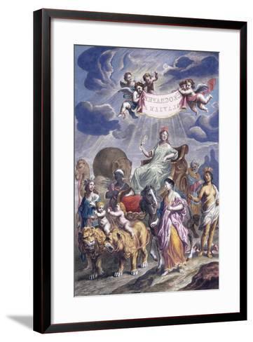 An Allegorical Plate with Title-Joan Blaeu-Framed Art Print