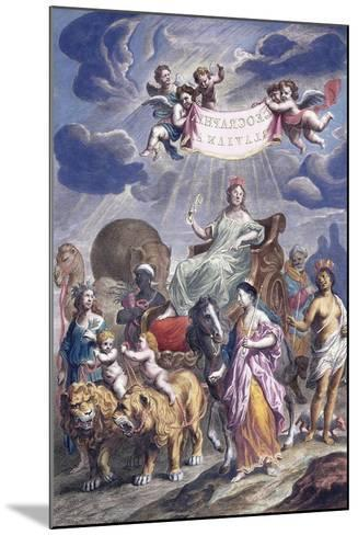 An Allegorical Plate with Title-Joan Blaeu-Mounted Giclee Print