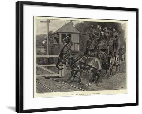 An Awkward Place for an Argument-John Charlton-Framed Art Print