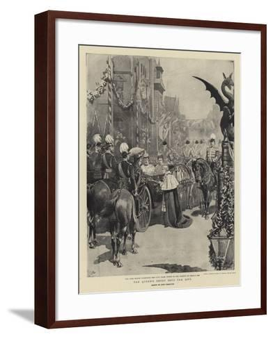 The Queen's Entry into the City-John Charlton-Framed Art Print