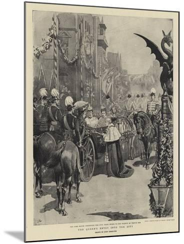 The Queen's Entry into the City-John Charlton-Mounted Giclee Print