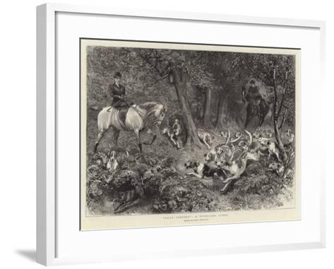 Hard Pressed, a Woodland Scene-John Charlton-Framed Art Print