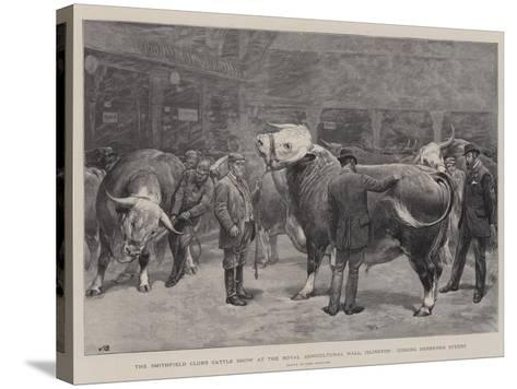 The Smithfield Club's Cattle Show at the Royal Agricultural Hall-John Charlton-Stretched Canvas Print