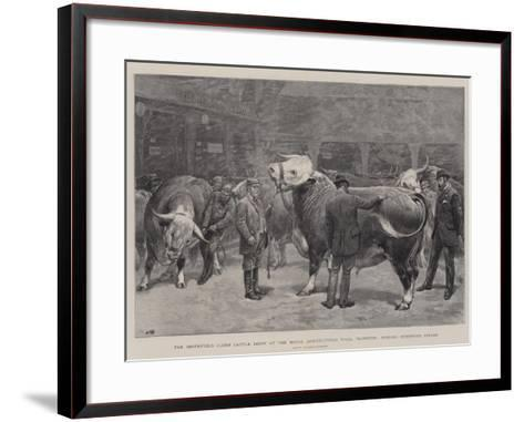 The Smithfield Club's Cattle Show at the Royal Agricultural Hall-John Charlton-Framed Art Print