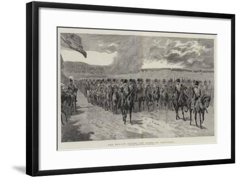 The Review before the Queen at Aldershot-John Charlton-Framed Art Print