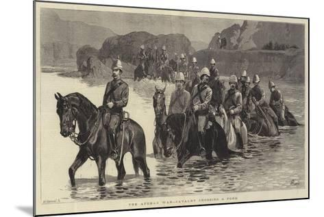 The Afghan War, Cavalry Crossing a Ford-John Charlton-Mounted Giclee Print