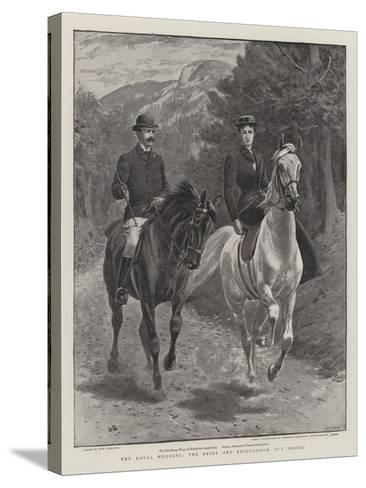 The Royal Wedding, the Bride and Bridegroom Out Riding-John Charlton-Stretched Canvas Print