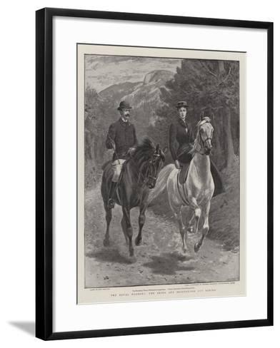 The Royal Wedding, the Bride and Bridegroom Out Riding-John Charlton-Framed Art Print