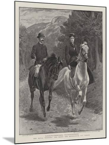 The Royal Wedding, the Bride and Bridegroom Out Riding-John Charlton-Mounted Giclee Print