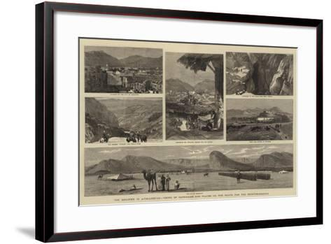 The Disaster in Afghanistan, Views of Candahar and Places on the Route for the Reinforcements-John Charles Dollman-Framed Art Print
