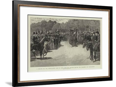 A Meeting of the Four-In-Hand Club in Hyde Park, the Coaches Leaving the Magazine for Hurlingham-John Charlton-Framed Art Print