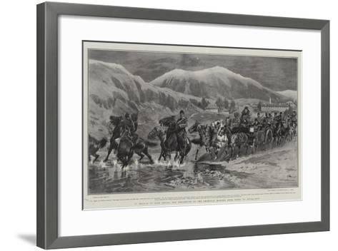 In Search of Miss Stone, the Departure of the American Mission from Seres to Djuma-Bali-John Charlton-Framed Art Print
