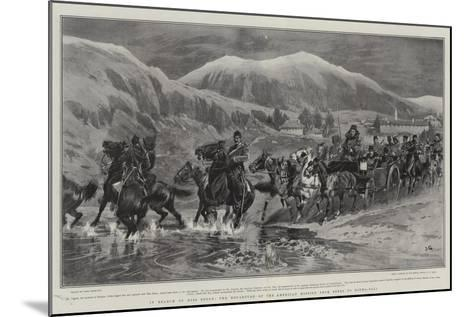 In Search of Miss Stone, the Departure of the American Mission from Seres to Djuma-Bali-John Charlton-Mounted Giclee Print