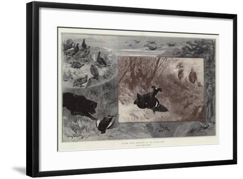 Black Game Shooting in the Highlands-John Charlton-Framed Art Print