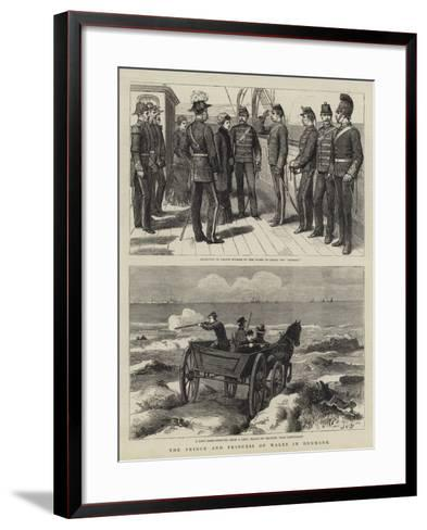 The Prince and Princess of Wales in Denmark-John Charles Dollman-Framed Art Print
