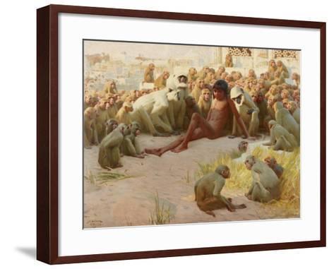 Mowgli Made Leader of the Bandar-Log, 1918-John Charles Dollman-Framed Art Print
