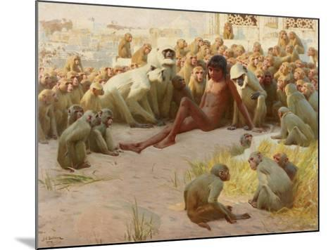 Mowgli Made Leader of the Bandar-Log, 1918-John Charles Dollman-Mounted Giclee Print