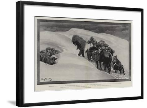 Food for the Hungry, Tending Snow-Bound Sheep on the Hills in Northumberland-John Charlton-Framed Art Print