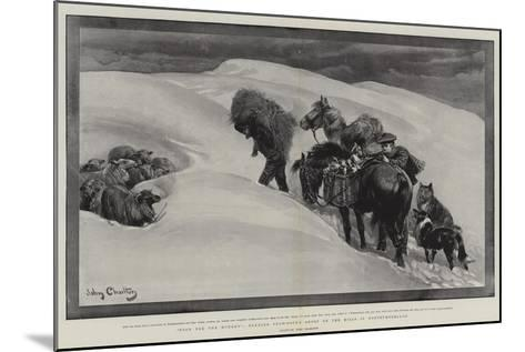 Food for the Hungry, Tending Snow-Bound Sheep on the Hills in Northumberland-John Charlton-Mounted Giclee Print
