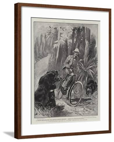 A Hair-Breadth Escape, a Cycling Adventure in Ceylon-John Charlton-Framed Art Print