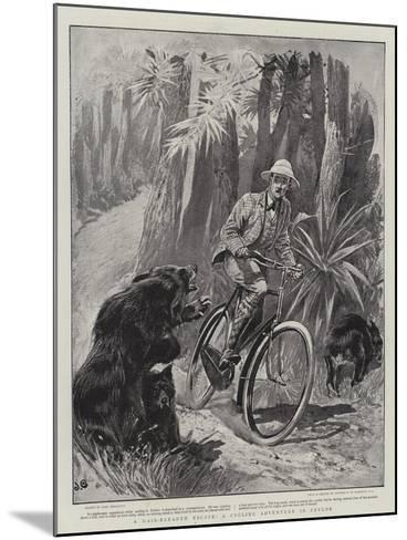 A Hair-Breadth Escape, a Cycling Adventure in Ceylon-John Charlton-Mounted Giclee Print