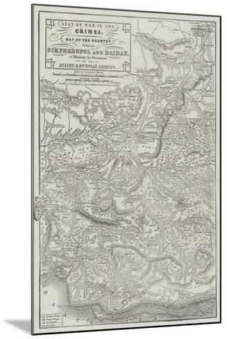 Seat of War in the Crimea-John Dower-Mounted Giclee Print