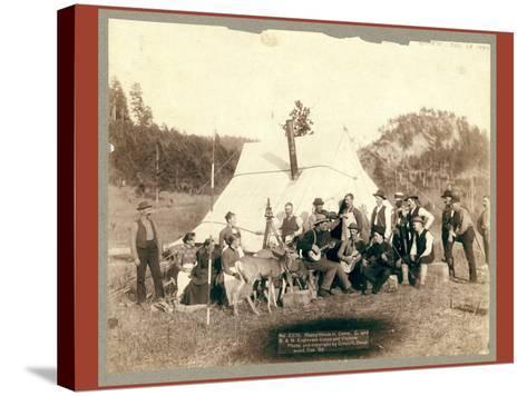 Happy Hours in Camp. G. and B.&M. Engineers Corps and Visitors-John C. H. Grabill-Stretched Canvas Print